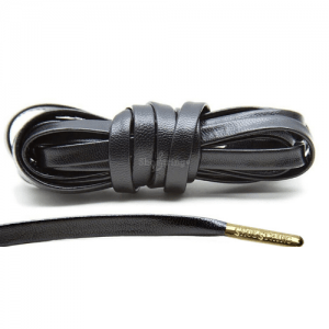 Leather Effect Laces with Gold Aglets