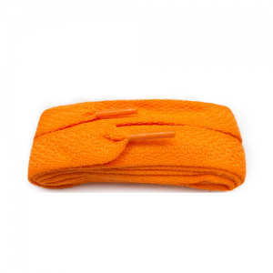Wide flat Supremes Laces for Trainers 114cm Flo Orange